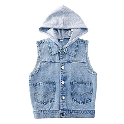 Baby Jongens Denim Jas Gilet Kids Hooded Mouwloze Jas Causaal Vest Meisjes Blauw Jeans Top Kleding Lente Herfst…