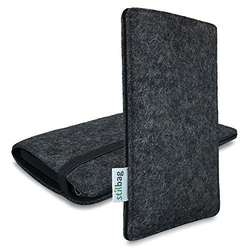 Stilbag Filztasche 'FINN' für Apple iPhone 6s plus- Farbe: anthrazit/schwarz