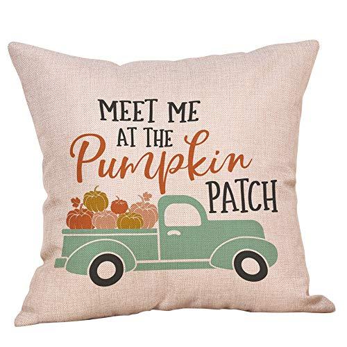 1 Pack Halloween Throw Pillowcase Decor Sofa Cushion Cover Car Pumpkin 18