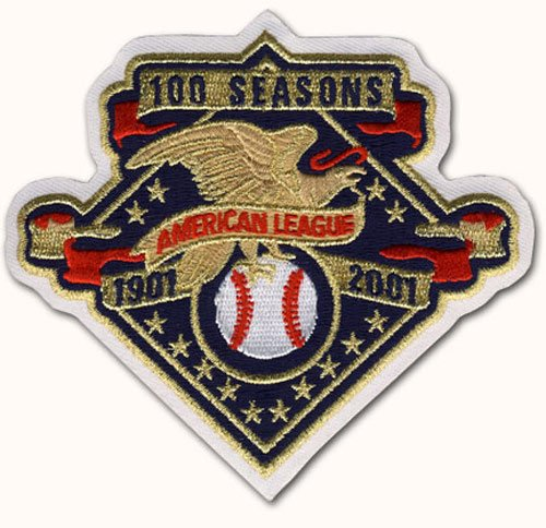 2 Patch Pack - 2001 American League 100th Anniversary Patch