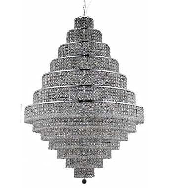 Pendants 38 Light With Chrome Finish Elegant Cut E12 Bulb 42 inch 2280 Watts - World of Classic