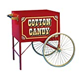 Beach City Wholesalers Antique Red Cotton Candy Cart (Need #12176FP Spacer & #3147 Riser)