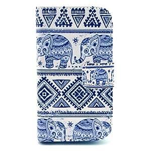 ZXM- patrón alfombra elefante pu caso de la cubierta de cuero con soporte para Samsung Galaxy Ace s7272 3 / s7275