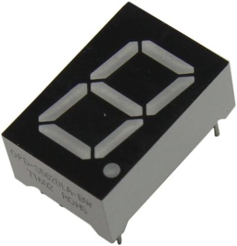 4x OPD-S3011Y-BW Display LED 7-segment 7.62mm yellow 8mcd cathode