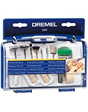 Dremel 684-01 20-Piece Cleaning & Polishing Rotary Tool Accessory Kit With Case- Includes Buffing Wheels, Polishing Bits, and Compound