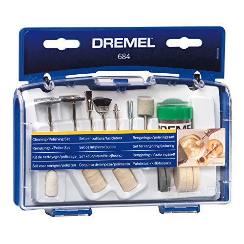 Dremel 684-01 20-Piece Clean & Polish Rotary Tool Accessory Kit With Case
