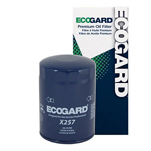 ECOGARD X257 Spin-On Engine Oil Filter for Conventional Oil - Premium Replacement Fits Volkswagen Passat, Jetta, Rabbit Pickup, Rabbit, Golf, Vanagon, Quantum, Dasher / Audi A4 Quattro, A4, 5000