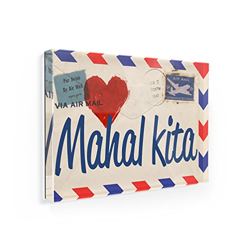 Fridge Magnet I Love You Filipino Love Letter from the Philippines -