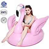 BiBOSS Flamingo Inflatable Pool Float Summer Beach Swimming Pool Party Lounge Raft Decorations Toys for Adults Kids