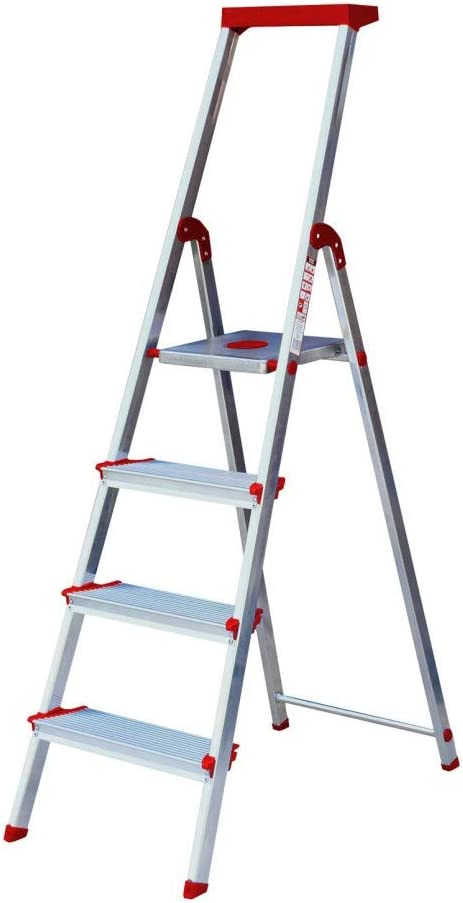 Escalera Rolser Aluminio Brico 220 4 Peldaños anchos: Amazon.es: Hogar