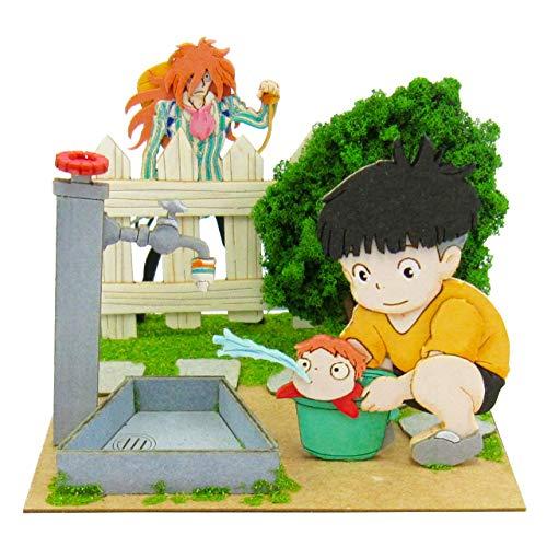 Ponyo on the cliff the Sankei Studio Ghibli mini sosuke and Ponyo and Fujimoto scale papercraft MP07-38