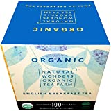 Natural Wonders USDA Organic English Breakfast Individualy Wrapped Tea Bags, 100 Count