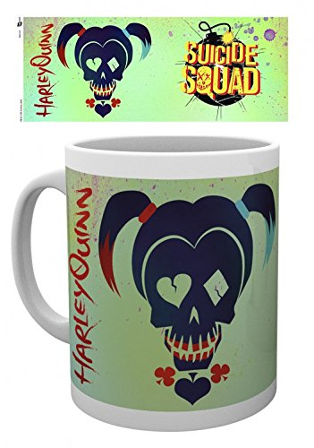 Suicide Squad Photo Coffee Mug - Harley Quinn Skull (4 x 3 inches)