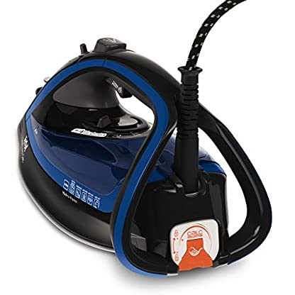 Tefal FV5648 Aquaspeed Turbo Pro Anti-Calc Dampfbügeleisen , 220 g/min Dampfstoß, 2600 W, dunkelgrau/velvet-blau 5
