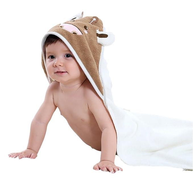 Chickwin Toalla con Capucha para bebés, Manta de algodón Toallita de Lujo Cómodas y largas
