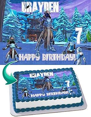Edibleinkart Video Game Cake Image Topper Personalized Birthday 1/4 Sheet Custom Sheet Party Birthday Sugar Frosting Transfer Fondant Image