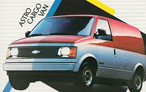 Chevrolet Cargo Vans (1986 Chevrolet Astro Cargo Van ORIGINAL Factory Postcard)