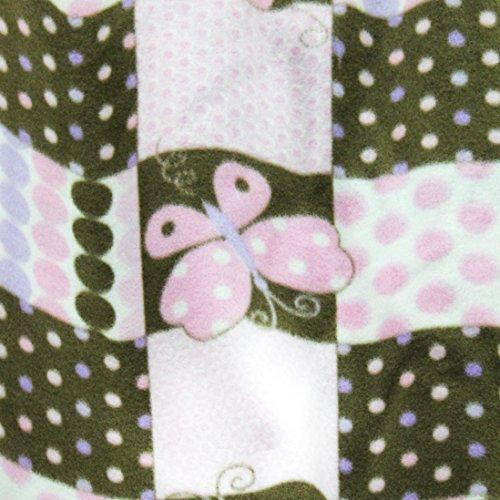 "Polka Dot Butterfly Anti Pill Animal Theme Fleece Fabric, 60"" Inches Wide – Sold By The Yard (FB) (Polka Dot Fleece)"