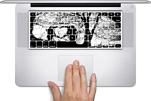 Silhouette Black White Friendship Boy Girl Tree Heart Printed Design Keyboard Decals by Smarter Designs for 11 inch MacBook Air
