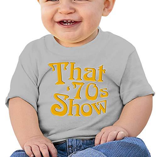 Huiliyuanshiye Baby Short Sleeve T-Shirt That 70s'show Logo Toddler Kids Cotton Tee Gray