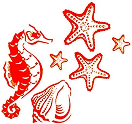 veklblan Caballito De Mar Estrellas De Mar Modelan Tatuajes De ...