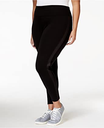 9df8a02a74 Calvin Klein Performance Plus Size High-Rise Active Leggings (3X, BLACK)