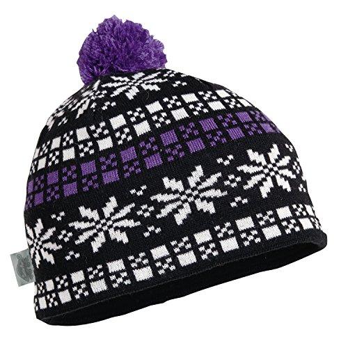 ie Women's Merino Wool Knit Pom Snowflake Hat Wisteria ()