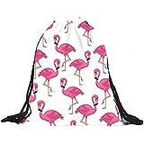 kingko® turnbeutel 39cm * 30cm Polyester Flamingos Kordelzugbeutel 3D Druck Taschen Rucksack