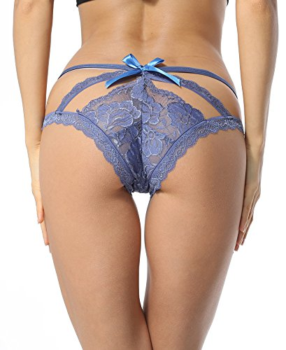 Sofishie Sexy Cage Back Panties - Blue - Medium