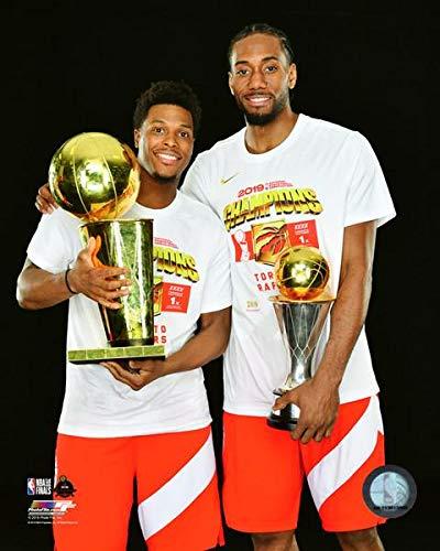 (Kawhi Leonard & Kyle Lowry Toronto Raptors 2019 NBA Champions Finals & MVP Trophies 8