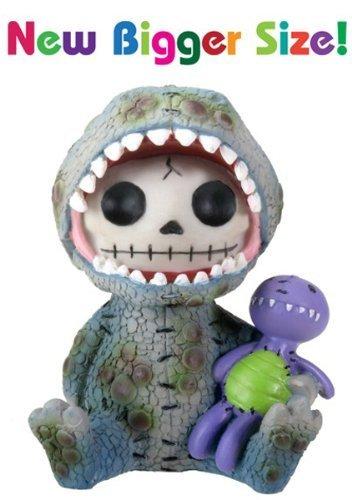 (SUMMIT COLLECTION Furrybones Rex Signature Skeleton in Tyrannosaurus Rex Costume with Purple Dinosaur Doll)