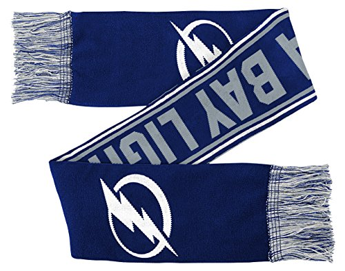 NHL Tampa Bay Lightning Youth Boys Winter Scarf, 1 Size, Dark Blue