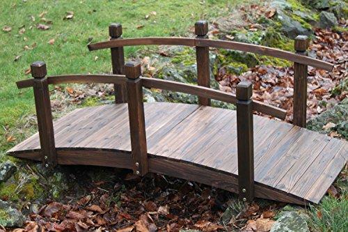 Gartenbrücke aus Holz, 1,5 m breit