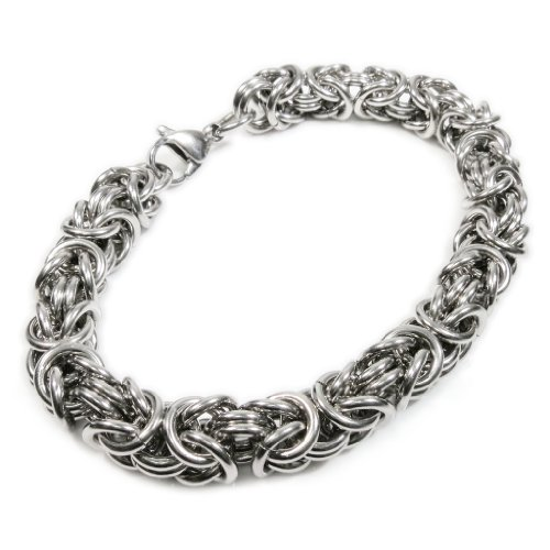 Man Of Steel Costumes For Sale (Stainless Steel Round Byzantine Chain Bracelet 8mm 10inch)