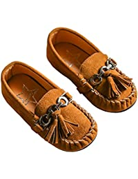 Toddler Boys Grirls Suede Tassel Slip On Penny Loafers Flat Doug Shoes Moccasins