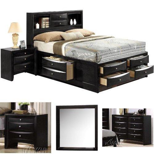 Acme Furniture Ireland Queen Bed 4-Piece Bedroom Set with St