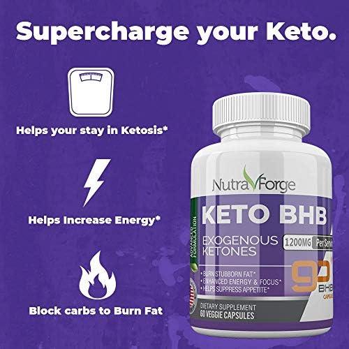 Keto BHB Pills 1200mg Ketogenic Keto Pills for Women and Men Ketogenic Carb Blocker Best Keto Diet Pills for Women and Men Helps Boost Energy & Metabolism, 60 Capsules 7