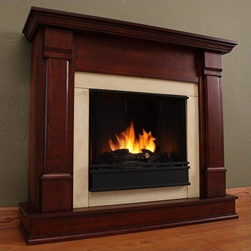 Real Flame Silverton G8600-X-DM Electric Fireplace in Dark Mahogany - MANTEL ONLY - Mahogany Fireplace Mantel