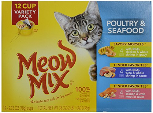 Meow Mix Seafood & Poultry Variety - 12 pack
