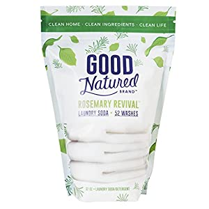 Good Natured Brand the Best All-Natural Eco-friendly Rosemary Laundry Soda/Detergent 52 load bag 30 oz.
