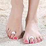 genmine Hammer Toe Pads, Toe Cushion Straightener & Corrector for Curled, Curved, Claw & Mallet Toe Relief - Right & Left Gel Support Crest Cushion