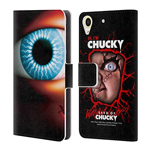 Official Seed of Chucky Poster Key Art Leather Book Wallet Case Cover Compatible for HTC Desire ()