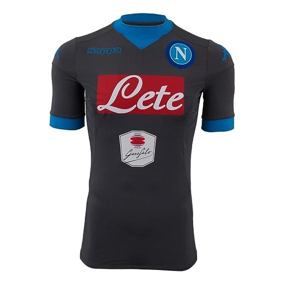 Away Napoli jersey Grey Dk-Azure 15/16 Naples Kappa: Amazon.es ...