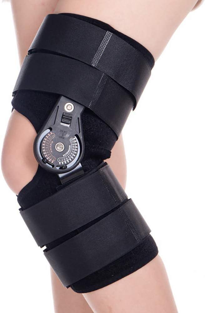 GJNVBDZSF Soporte para pies, Rodillera Daño en la articulación Fija Disco de ángulo Ajustable Órtesis de Rodilla Rehabilitación postoperatoria