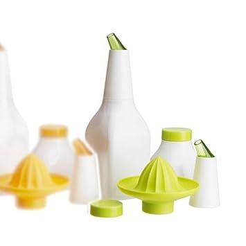 Ikea Soda 5 en 1 _ 2 botellas/Exprimidor/boquilla/Tapa - Jarra para zumo nuevo/verde: Amazon.es: Hogar