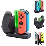 FastSnail Controller Charger for Nintendo Switch, Charging Dock Stand Station for Switch Joy-con and Pro Controller with Charging Indicator and Type C Charging Cable