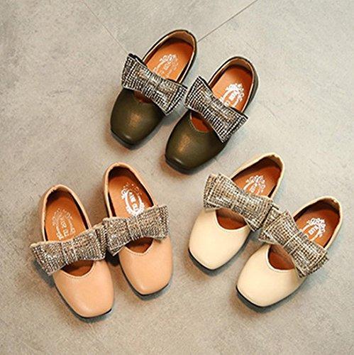 MuSheng Laufschuhe Kinder Hausschuhe Kinder für Mädchen Sneaker Schuhe Weiß Beige