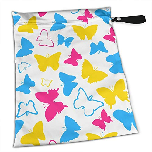 LGBT Pride Gay Butterfly Tote Travel Accessories Size Happens Reusable Laundry Beach Toddler Dry Bag for Workout Swim Wet Kid Baby Gym Clothes Cloth Diaper Wetbag