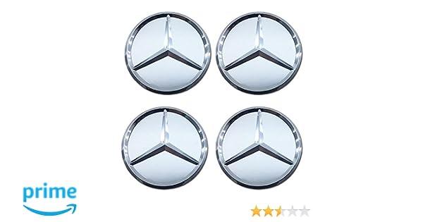 4 tapacubos de repuesto para Mercedes Benz, Estrella azul con corona de Laurel, para vehículos: Amazon.es: Coche y moto