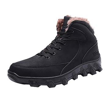 LuckyGirls Zapatillas Casual Cargo Calzado Deportivo con Pelo por Dentro Zapatillas de Correr Running Jogger Bambas de Hombre con Cordones: Amazon.es: ...